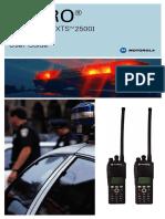 Motorola ASTRO Xts2500 Model 3 Full Keypad User Manual