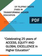 Transformative Higher Education in the Bicol Region