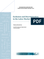 Exclusion and discrimination