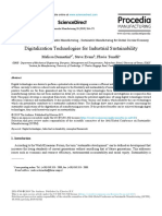 Digitalization Technologies for Industrial Sustainability