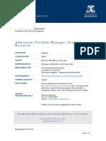 0036512 Admissions Portfolio Manager (Graduate Research) PD