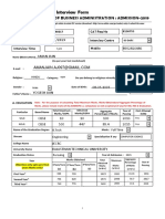 MBA FOrm