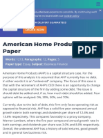 American Home Products Essay