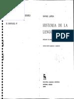Lapesa Rafael - Historia de La Lengua Espanola