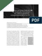 O Uso de Recursos Lúdicos Na Avaliação Funcional Em Clínica Analítico Comportamental Infantil