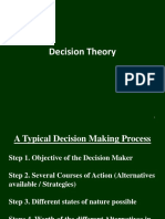 Decision Theory - Operations research