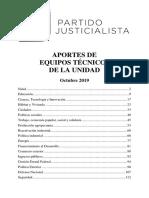 Documento del Partido Justicialista a Alberto Fernández