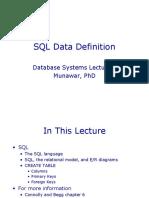 06 DBMS SQL Data Definition