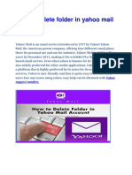 How to Delete Folder in Yahoo Mail Account