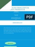 Asuhan Nutrisi Untuk Bayi Prematur