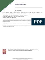 Present Status of Egyptian Chronology - Ward 1992