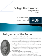 3. College Uneducation Prepared by Maria Teresa Dimaandal Annaliza Onda of Cpet3101