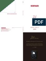 Data_Sheet-Sanwa Multi Meters