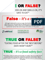 Food Safety Week T or F Dmcc