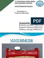 Ventury & Orifice Meter