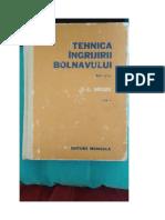 Tehnica Ingrijirii Bolnavului-Carol Mozes - Vol.2 editia - 1978