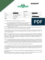 Note du département financier de l'ONF - 7 juin 2012