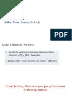 Lesson 4 Literature Citation and Citing References (APA or MLA) - Addendum