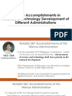 presidents accomplishments with science and technology