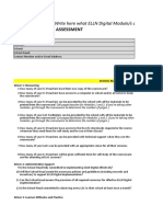 School Readiness Assessment