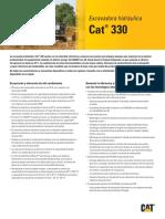 Cat 330 manual de prevencion
