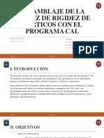 Matriz de Rigidez en Pórticos Con El Programa CAL