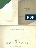 Ion Dumitrescu Vol 1 120 Solfegii de Grad Superior