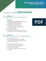 REGLAMENTO CONVOCATORIA 2019