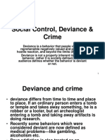 Social Control, Deviance & Crime