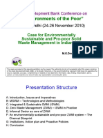 Case for Environmentally Sustainable and Pro-Poor Solid Waste Management in Indian Cities - presentation