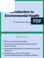 Introduction to Environmental Health 2012