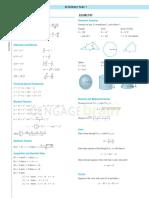 Resumo de fórmulas de cálculo