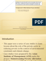 The need for PPP arrangements to make business pro-poor and green - presentation