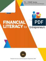 Financial Literacy for Entrepreneur
