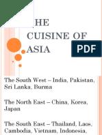The Cuisine of Asia