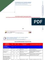 Lista de Enfermedades Ocupacionales anexo I de la Propuesta de Reforma de la Norma Técnica para la Declaración de Enfermedad Ocupacional