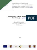 An II- Modulul III- Implementarea sistemelor informatice - partea I.doc