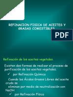 Refinacion de Aceites y Grasas Comestibles