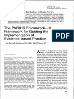 The PARIHS Framework-A Framework for Guiding the Implementation of Evidence Based Practice
