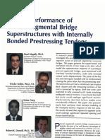 Performance of Segmental Bridge Superestructuras edith Internally Bonded Prestressing Tendons