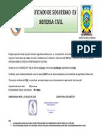 Certificado de defensa civil