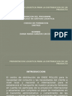 Presentacion Logistica Para La Distribucion de Un Producto