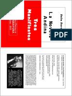 La Novela Andina Tres Manifiestos Zein Zorrilla2x1