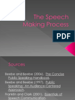The Speech Making Process 2011