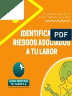 Identifica los riesgos asociados a tu labor