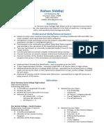 ism resume - google docs
