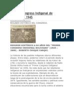 congreso indigenal