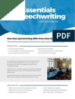The Essentials of Speechwriting
