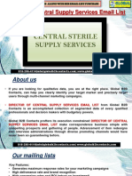 Director of Central Supply Services EmailList