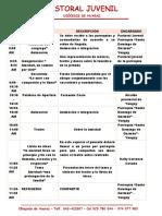 Cronograma Encuentro Juvenil 2019
